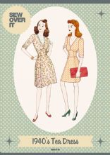 Vintage Style 1940's Tea Dress Pattern